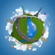 World travel globe concept isolated - Foto de Stock  