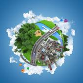 Wereld globe concept — Stockfoto