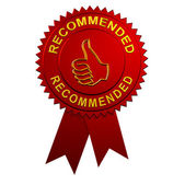 Recommended Ribbon — Stock Photo