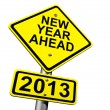 New Year Ahead 2013 — Stock Photo