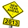 New Year Ahead 2013 - Stock Photo