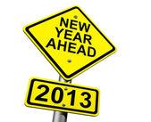 New Year Ahead 2013 — Stock Photo