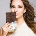 Sensual chocolate girl. — Stock Photo #10838491