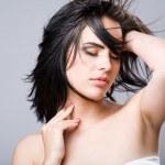 Sensual brunette beauty. — Stock Photo