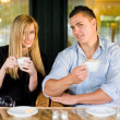 Young couple at coffee shop. — Stock Photo #11493639