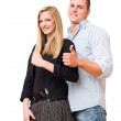 Young student couple showing big thumbs up. — Stock Photo #11493672