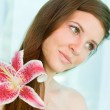 Beauty shot of young brunette. — Stock Photo