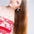 Brunette beauty with long hair. — Stock Photo #11849700