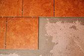 Telhas no chão — Fotografia Stock