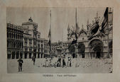 """ITALY - CIRCA 1910: A picture printed in Italy shows image of Venice, Vintage postcards """"Italy"""" series, circa 1910 — Stock Photo"""