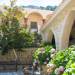 Stock Photo: Greece, Crete, beautiful courtyard in female abbey