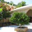 Greece, Crete, beautiful courtyard in female abbey — 图库照片