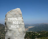 Greece, Crete, sign of mountain heights — Stock Photo