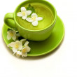 Cup of jasmine tea — Stock Photo