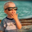 Little boy in Sun Glasses - Stock Photo