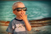 Little boy in Sun Glasses — Stock Photo