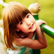 Portrait of a little smiling girl — Stock Photo #11894178