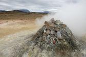 Volcanic fumarole in Iceland — Stock Photo
