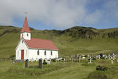 Dyrholaey churh and cemetery, Iceland. — Stock Photo