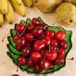 Stock Photo: Plate with cherry