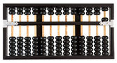 Abacus showing five — Stock Photo