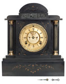 Antique Clock with Roman Numerals — Stock Photo
