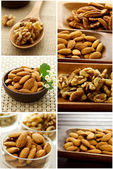 Nut Collage — Stock Photo