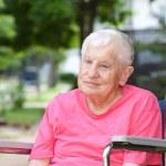 Senior Woman in Wheelchair — Stock Photo