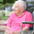 Foto Stock: Senior Womin Wheelchair