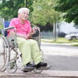 Senior Woman in Wheelchair — Lizenzfreies Foto