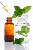 草本药物或芳香疗法滴管瓶 — 图库照片