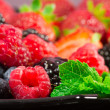 Stock Photo: Red fruits selection