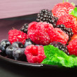 Stock Photo: Greedy red fruits