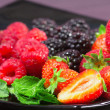 Foto Stock: Delicious red fruits