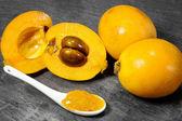 Loquat jam — Stock Photo