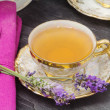 Foto de Stock  : Lavender flavored tea