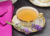 Lavender flavored tea — Stock Photo
