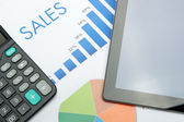 Sales calculation — Stock Photo