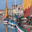 The harbor of Cesenatico — Stock Photo