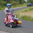 Funny Vespsidecar — Stock Photo #11138600