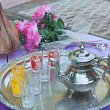 Moroccan tea set — Stock Photo