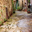 Stock Photo: Old alley in tuscany