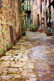 Old alley in tuscany — Stock Photo