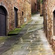 Old alley in Tuscany — Stockfoto