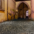 Street in the old town — Stock Photo