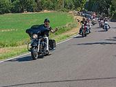 Bikers riding Harley Davidson — Stock Photo