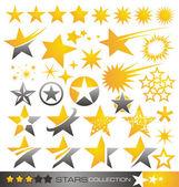 Colección estrella icono y logotipo — Vector de stock