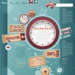 Vector de stock : Vintage web design elements
