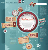 Vintage web design elements — Stock Vector