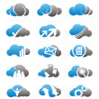 Cloud icons and logos set - Stock Vector